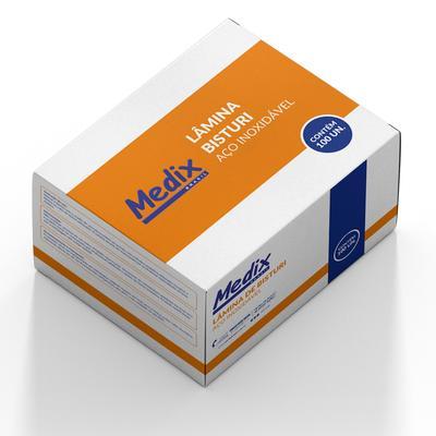 LAMINA DE BISTURI ACO INOXIDAVEL N 21 C/ 100 UNID
