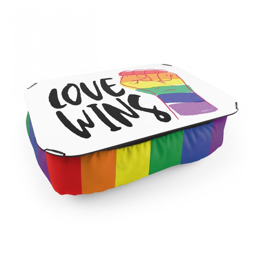 Almofada Bandeja Love Wins