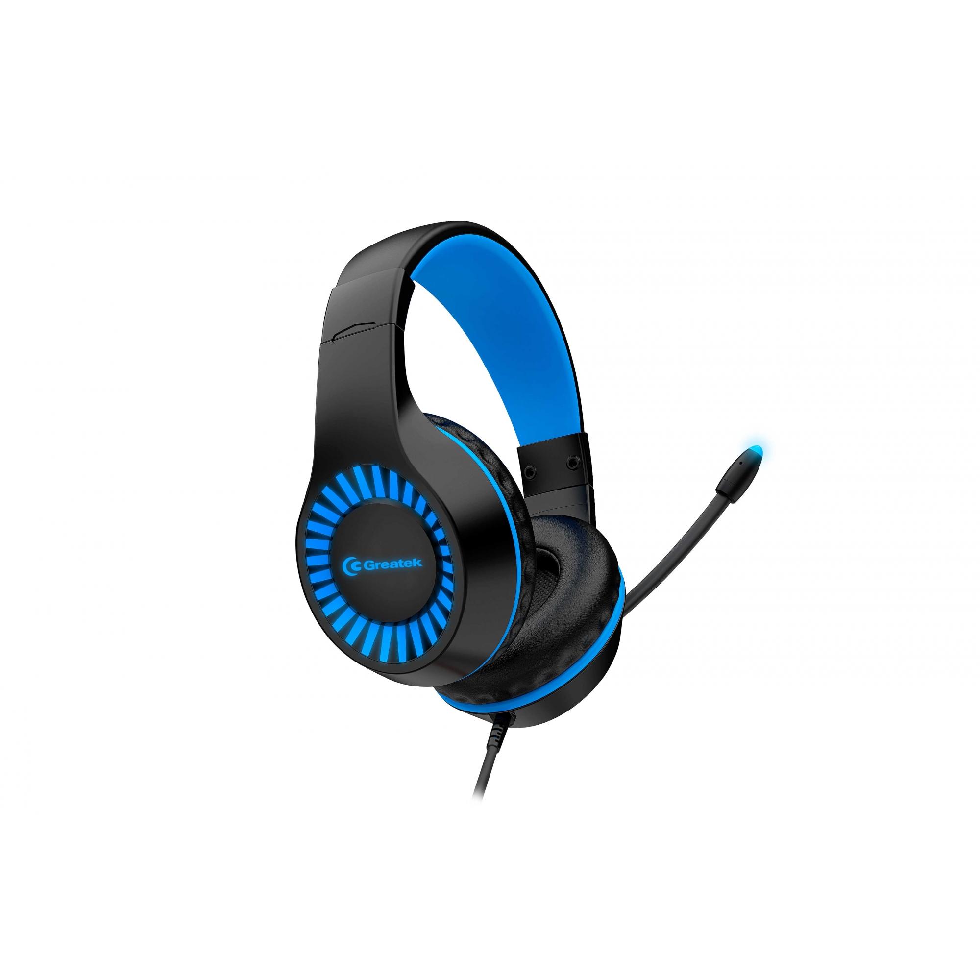 Headset Gamer Greatek Zeus c/Fio E Led Azul Ps4 Xbox Pc