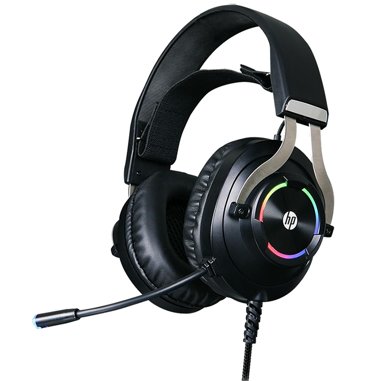Headset Gamer HP H360GS, Drivers 50mm, USB 7.1 Surround, RGB