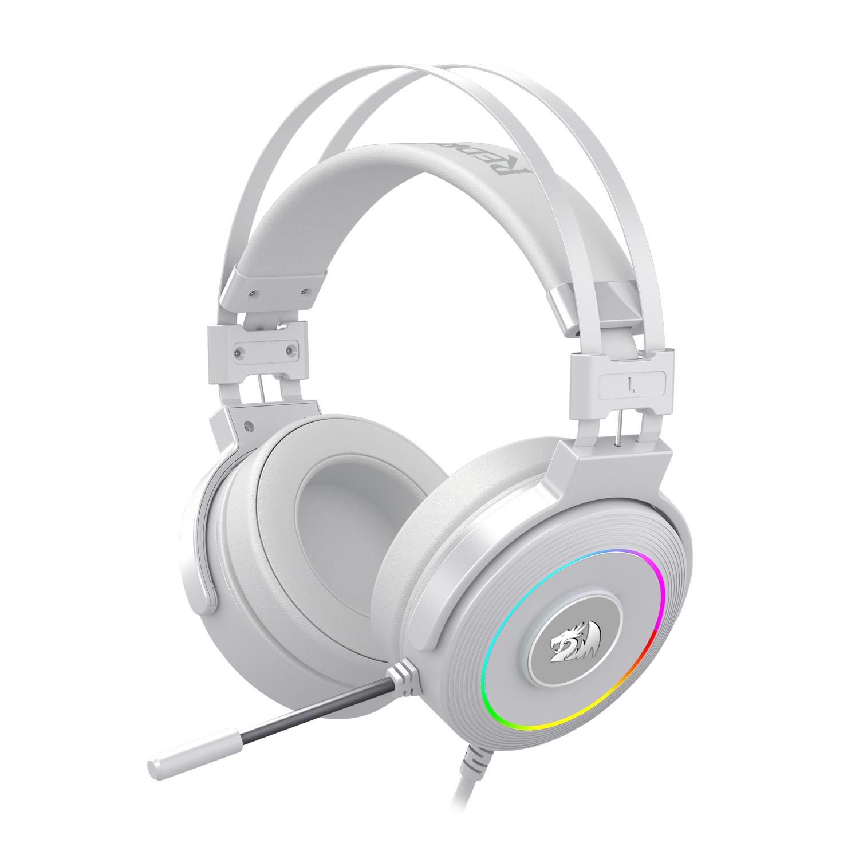 Headset Gamer USB Redragon Lamia 2 Lunar White RGB H320W-RGB