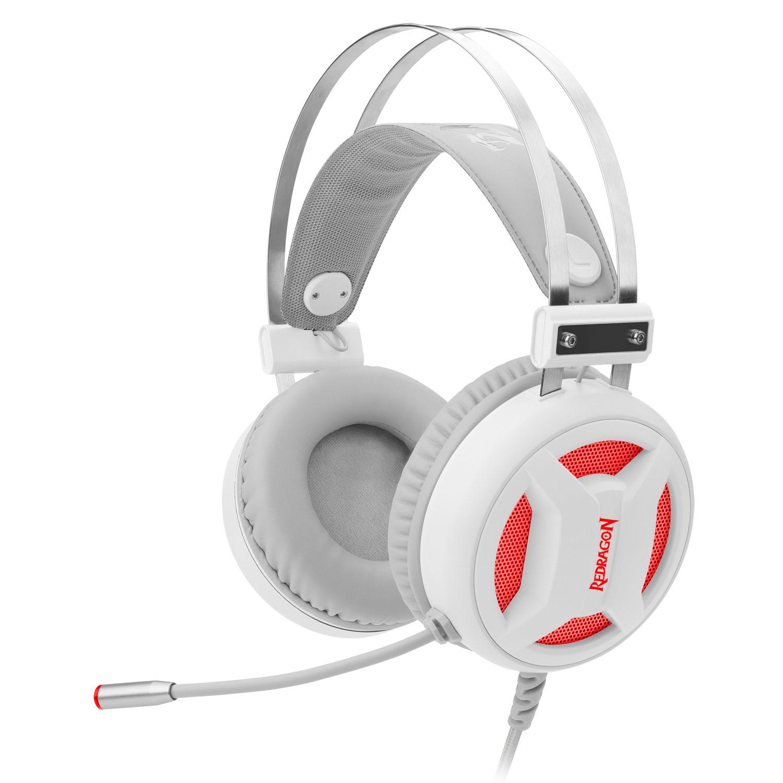 Headset Gamer USB Redragon Minos Lunar White H210W