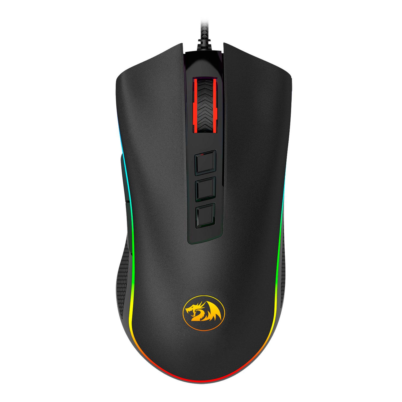 Mouse Gamer Redragon Cobra Preto RGB M711