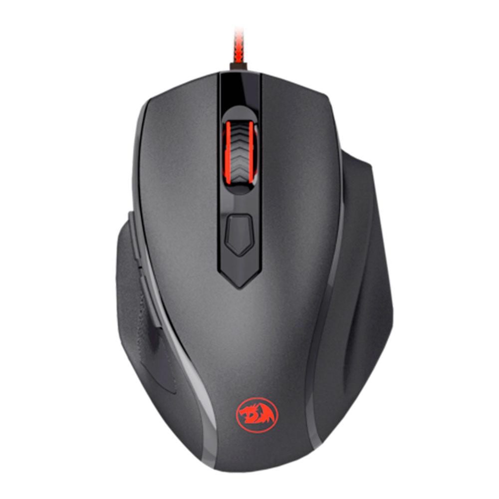 Mouse Gamer Redragon Tiger 2 Preto Single Color LED Vermelho M709-1