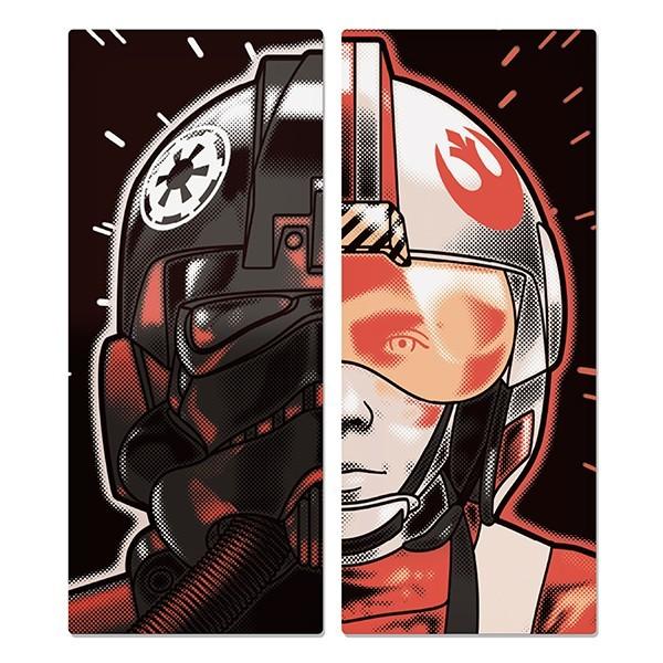 Placas de Parede Império vs Rebeldes - Star Wars