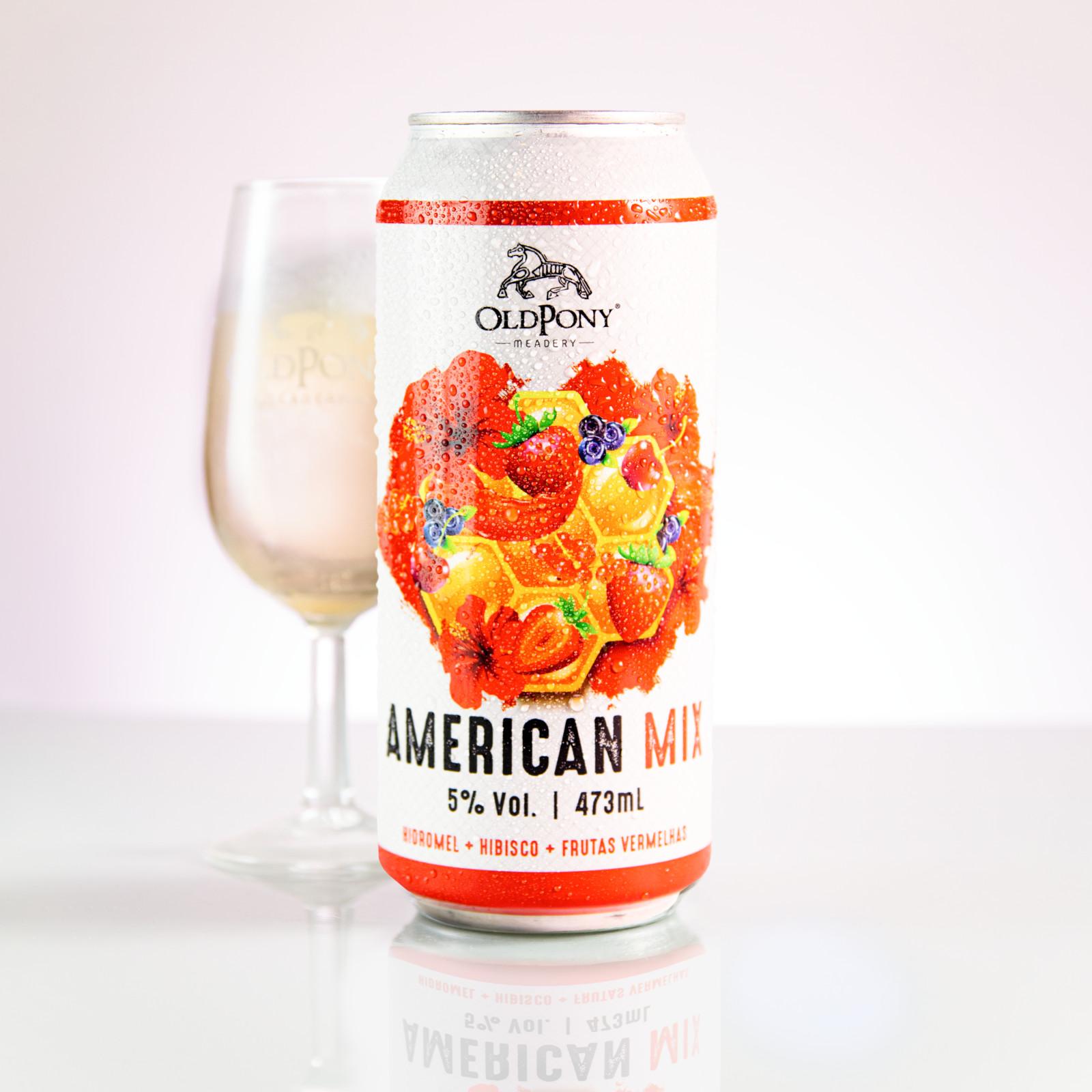 American Mix 473ml - Hidromel de hibisco com frutas vermelhas