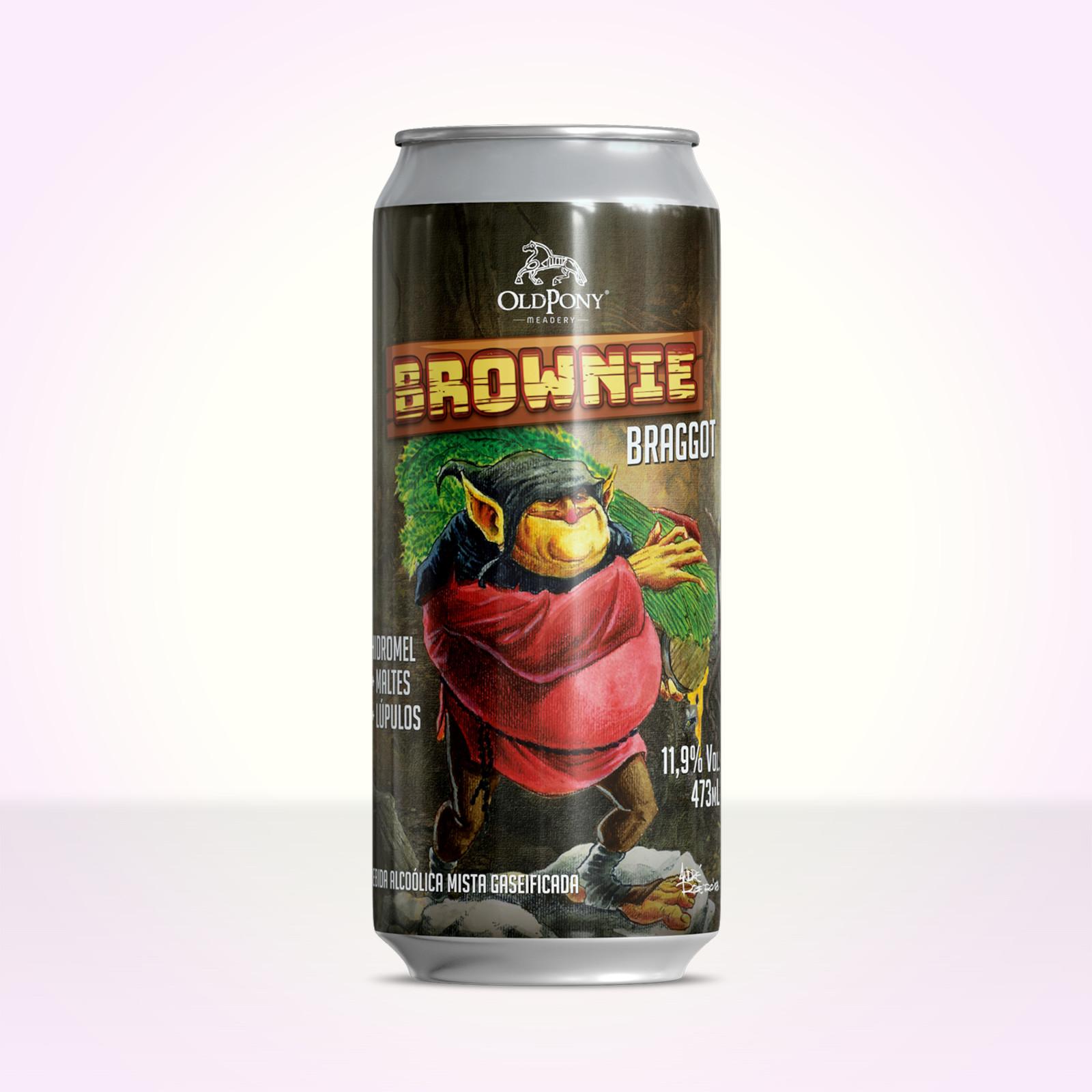 Brownie Braggot baseado em uma Brow Ale