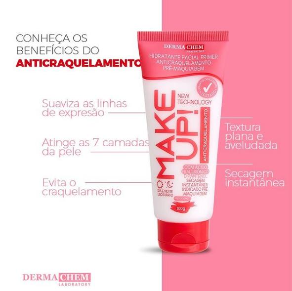 Hidratante Facial Primer Anticraquelamento Pré Maquiagem Make Up Dermachem