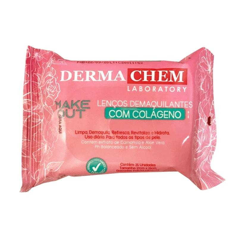 Lenço Demaquilante Com Colágeno com 25 lenços Make Out Dermachem