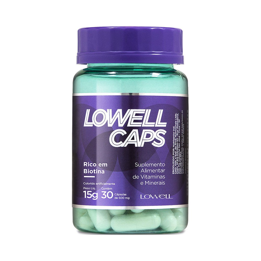LOWELL CAPS COM 30 CÁPSULAS - LOWELL