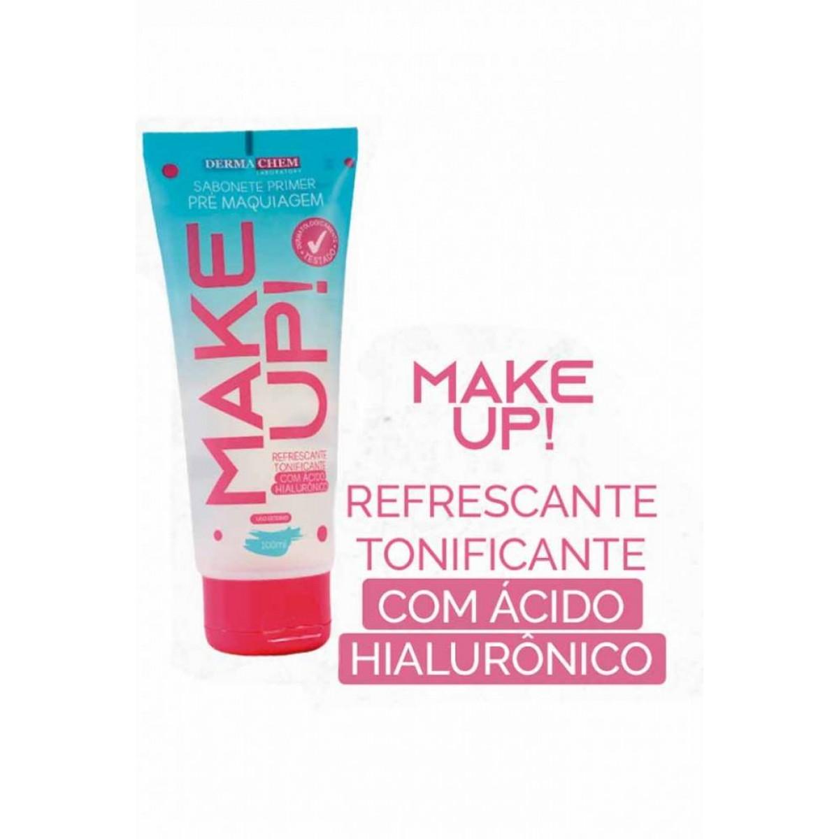 Sabonete Primer Pré Maquiagem Make Up 100 ml Dermachem