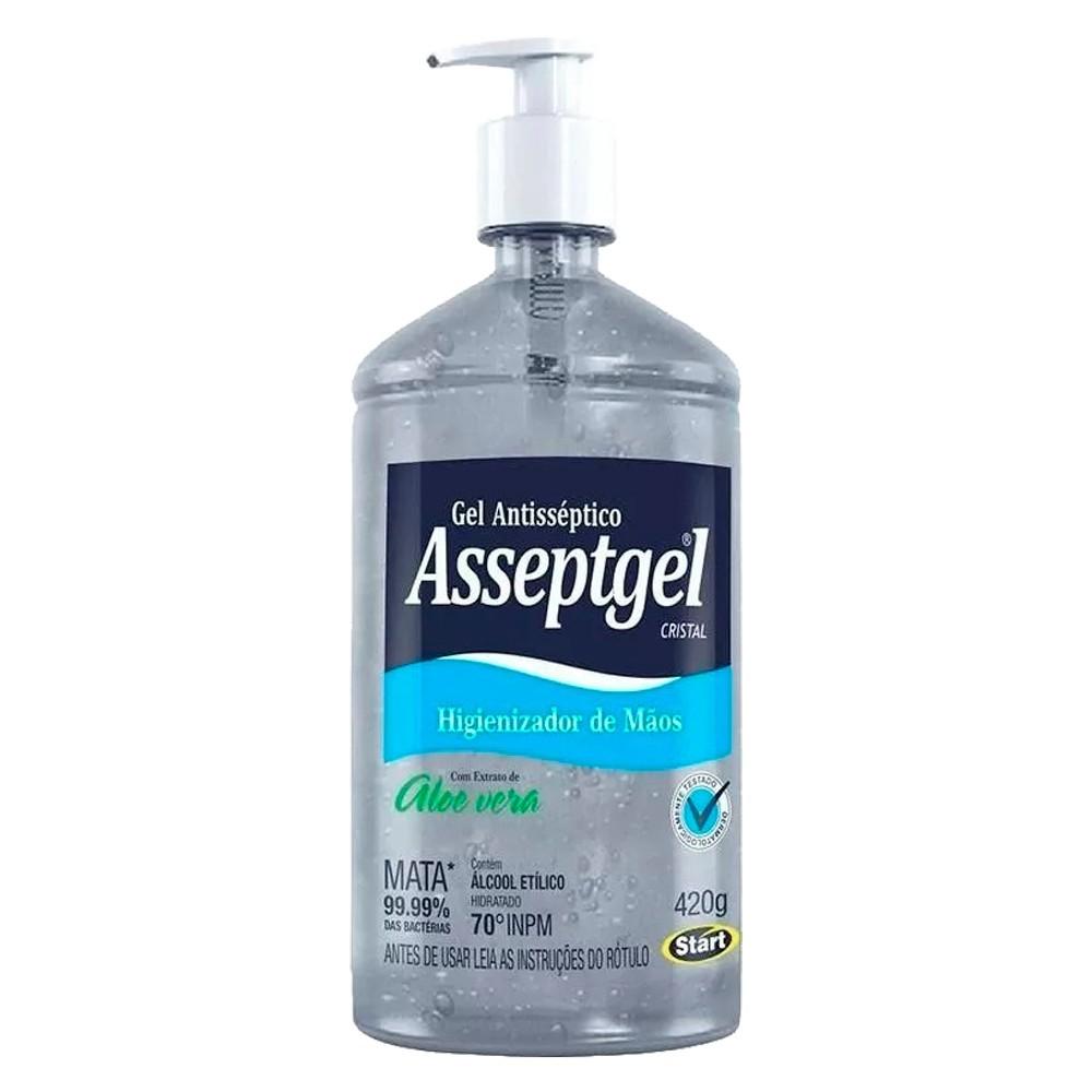 Álcool Gel 70 Asseptgel para as mãos 420g