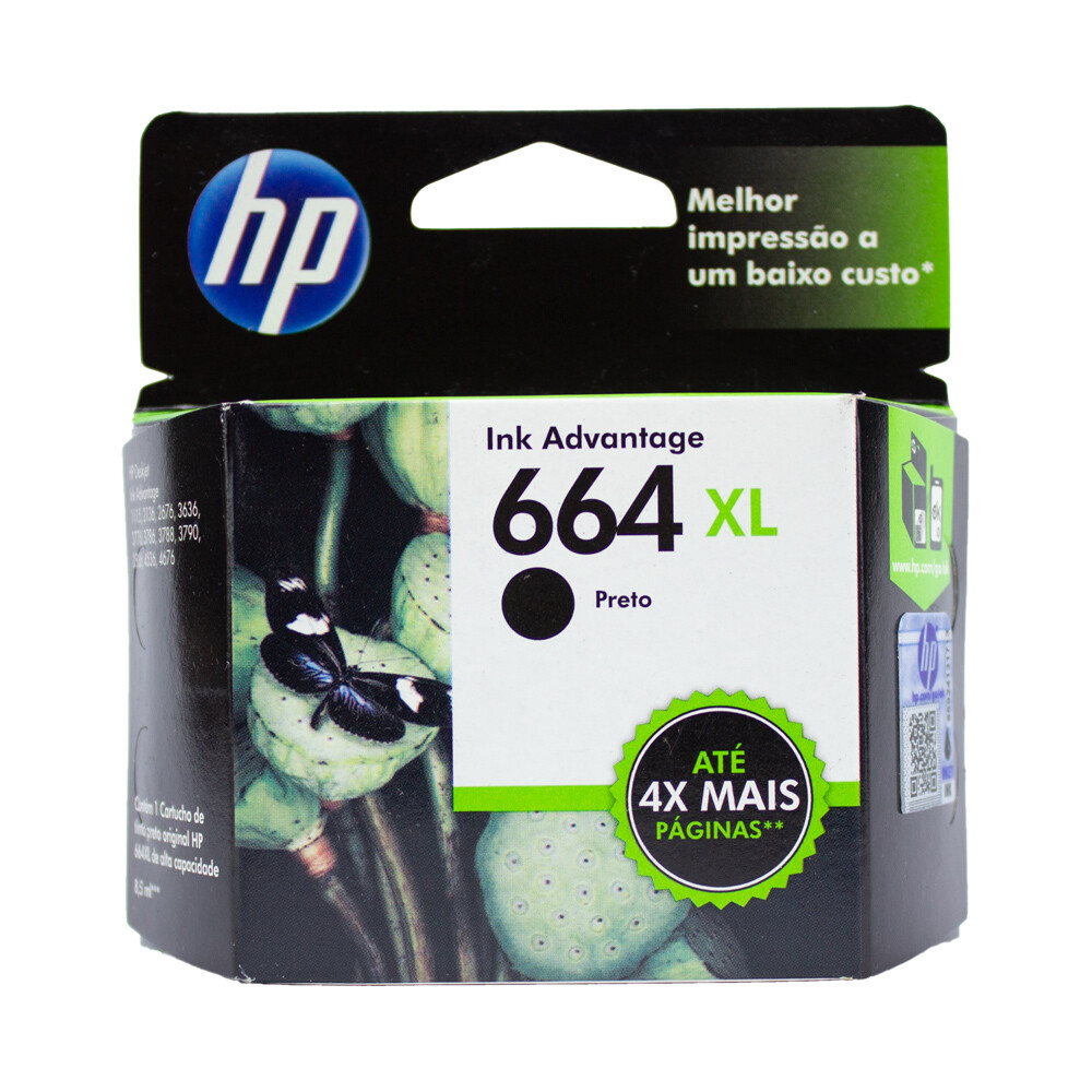 Cartucho Hp 664Xl Preto original para HP 2136