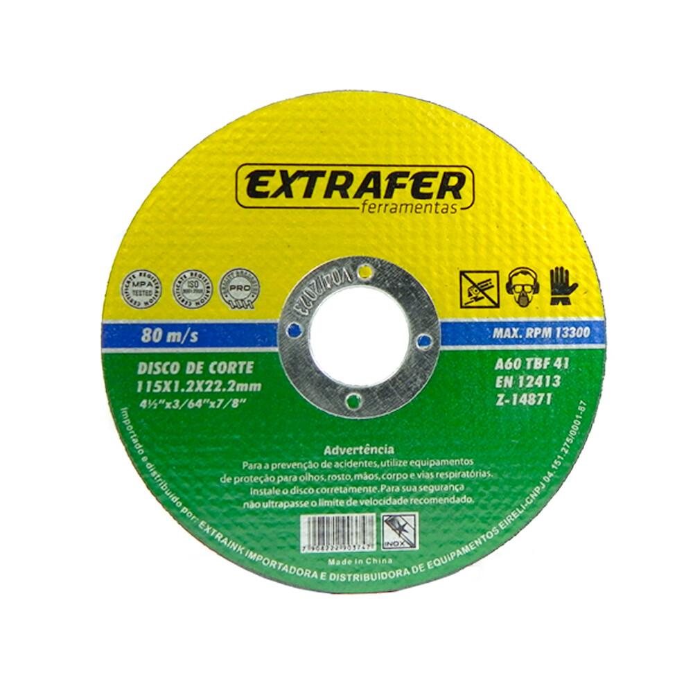 Disco de Corte Fino para Aço e Inox 4 1/2 115mm com 50