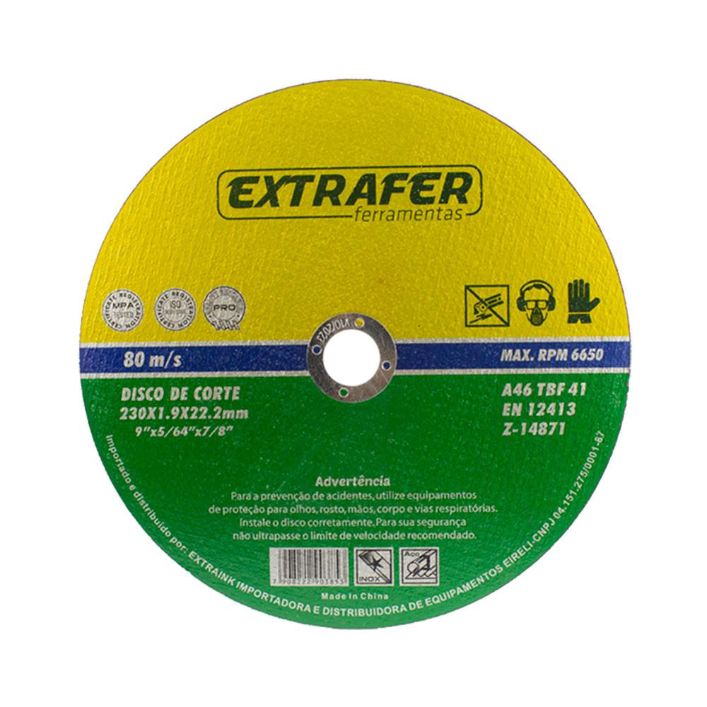 Disco de Corte para Aço e Inox 9 polegadas 230mm com 30 peças