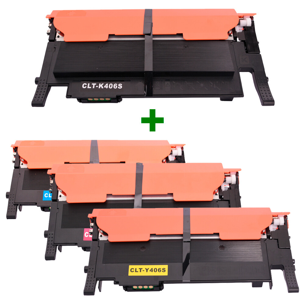 Kit Toner Compatível 406S CMY BK CLP360 CLX3300 até 1,5k páginas