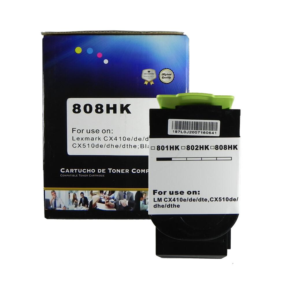 Kit Toner Compatível 808H CX410de CX510dhe CX510de CMY BK