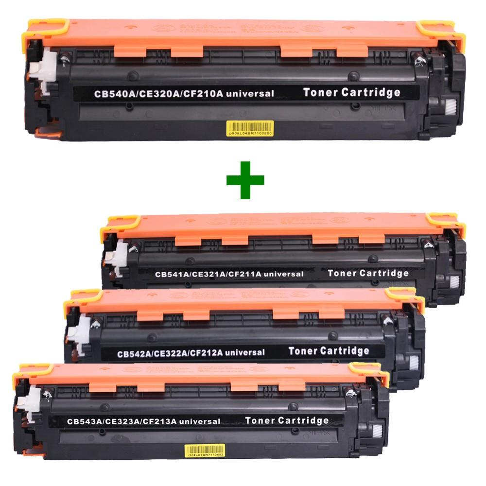 Kit Toner Compatível CE320/1/2/3 CB540/1/2/3 CF210/1/2/3 CP1515N CM1312 Preto e Coloridos até 2,2k páginas