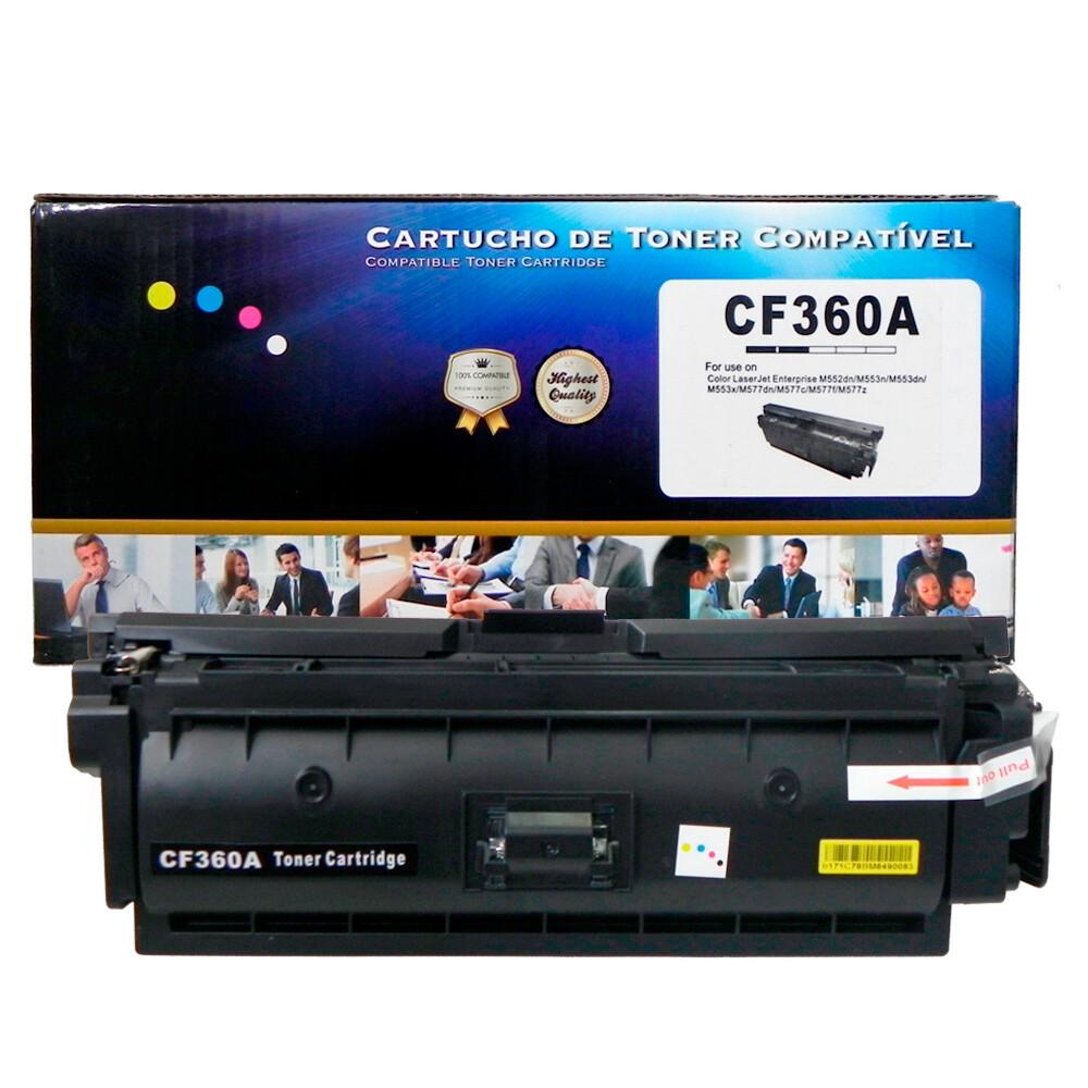 Kit Toner Compatível CF360/1/2/3 508A M501 M506 Preto e Coloridos até 6 mil páginas