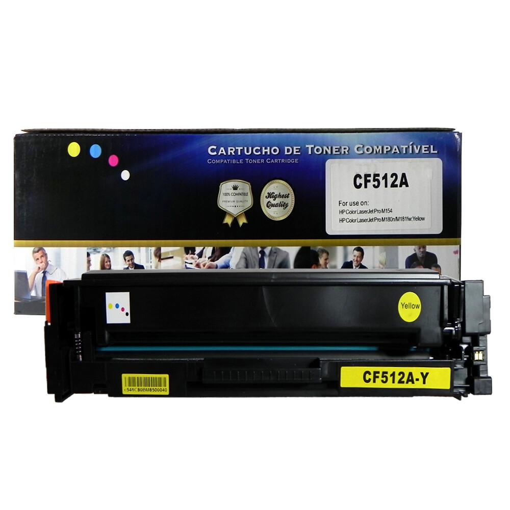 Kit Toner Compatível CF510A/1/2/3 M180nw Preto e Coloridos até 1,1k páginas