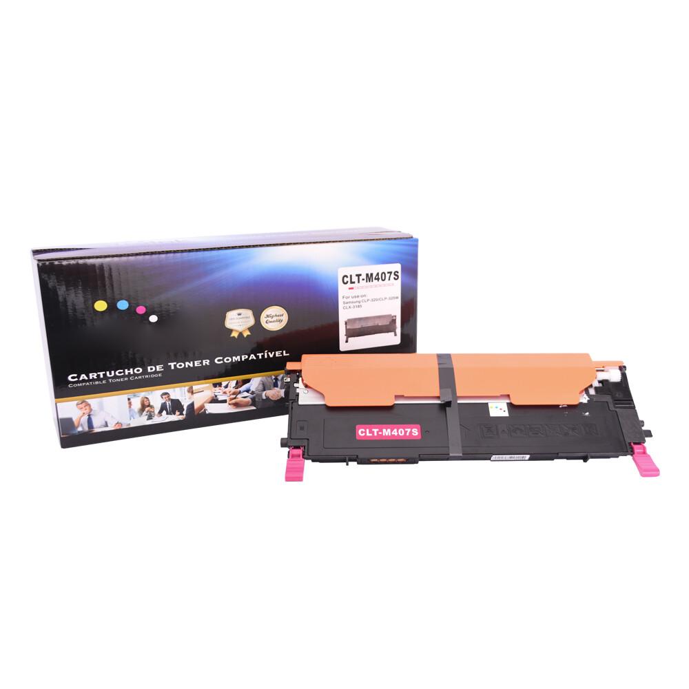 Kit Toner Compatível 407S CMY BK CLP-320 CLX-3180 até 1,5k paginas