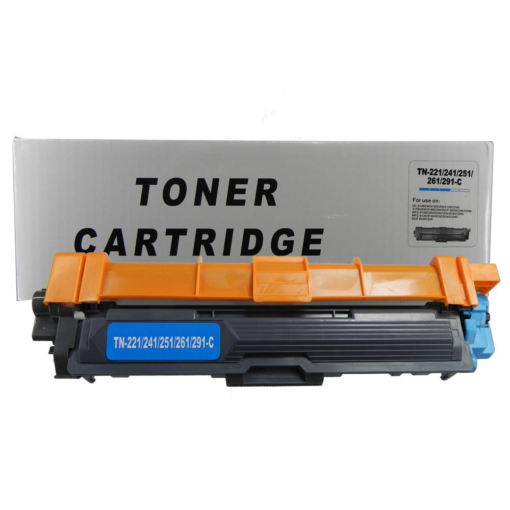 Kit Toner Compatível TN221 3140CW 9020CDN Preto e Coloridos até 2,5k páginas