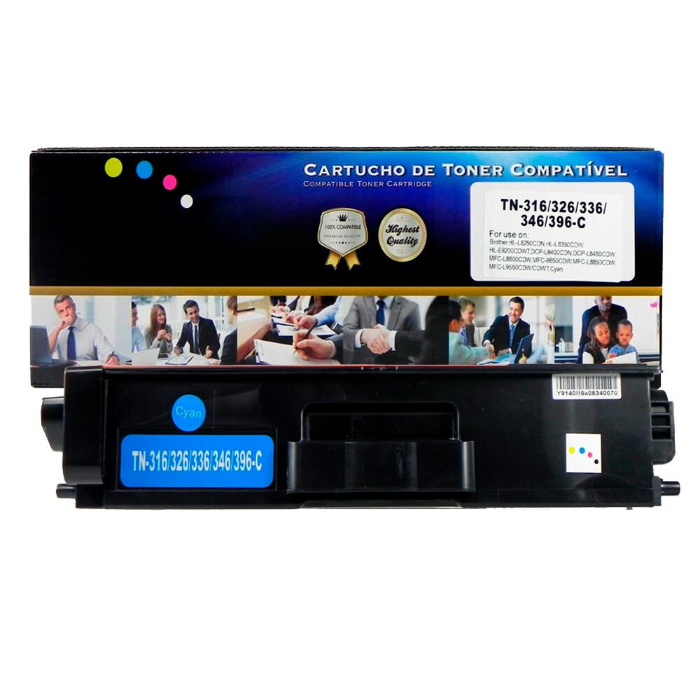Kit Toner Compatível TN316 L8350CDW L8600CDW Preto e Coloridos até 6k páginas