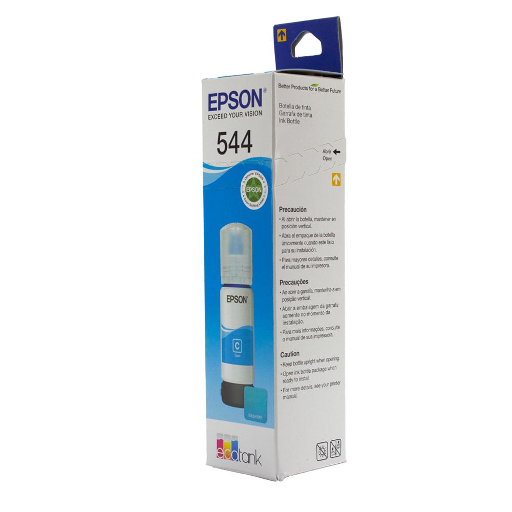 Refil de Tinta Epson T544220 Original Ecotank L3150, L3110, L5190 Ciano 7.500K