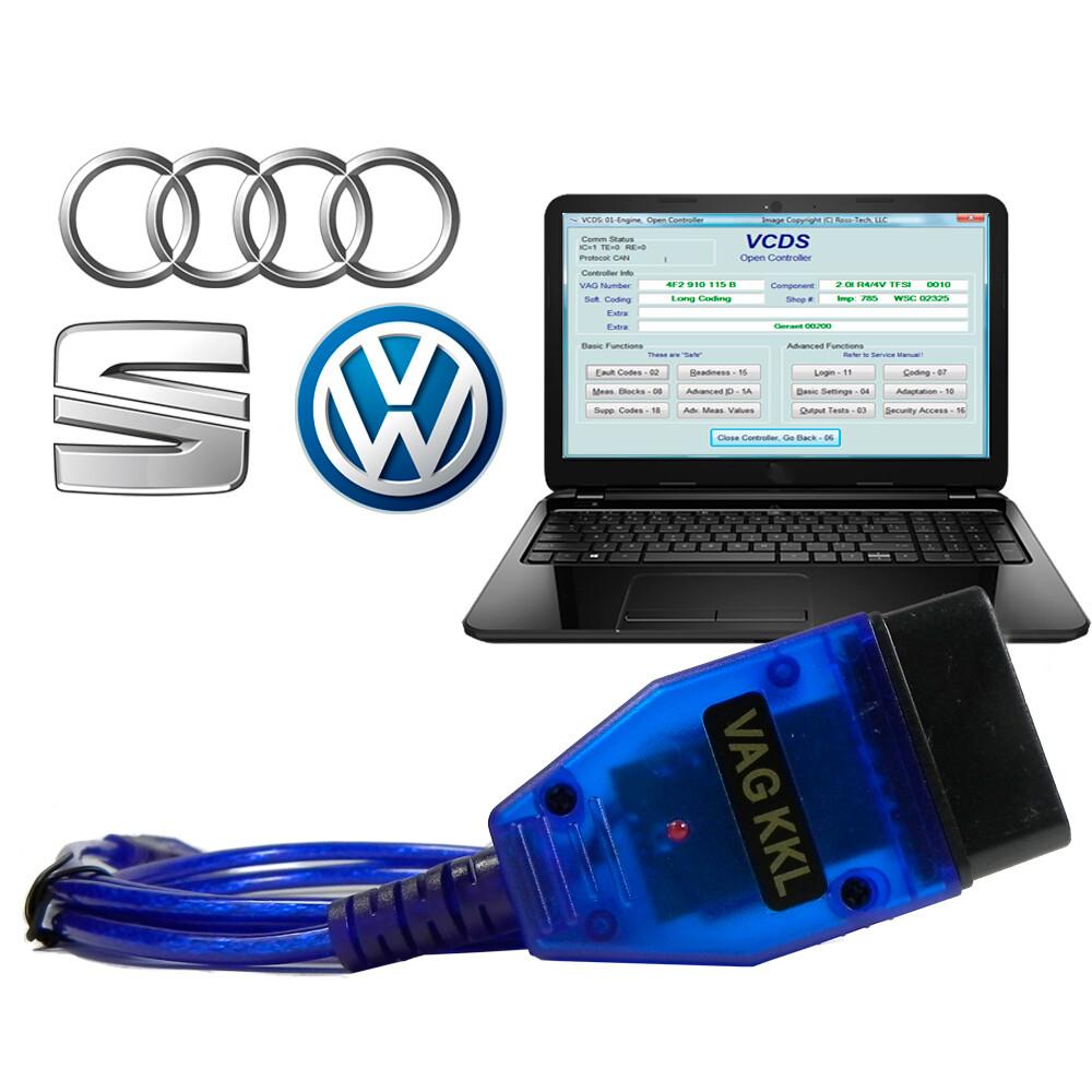 Scanner Automotivo Vagcom Obd2 Automotivo USB VAG KKL VW Audi Seat Skoda