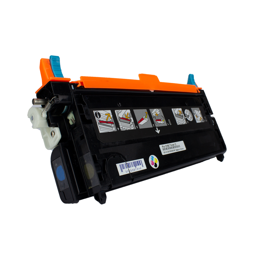 Toner 6180HC Compatível Ciano 6180N 6180DN 6180MFP 6 mil páginas