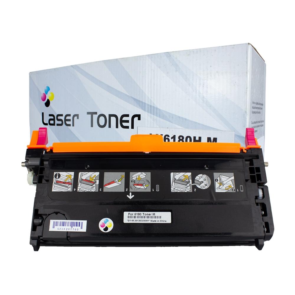 Toner 6180HM Compatível Magenta 6180N 6180DN 6180MFP  6 mil páginas
