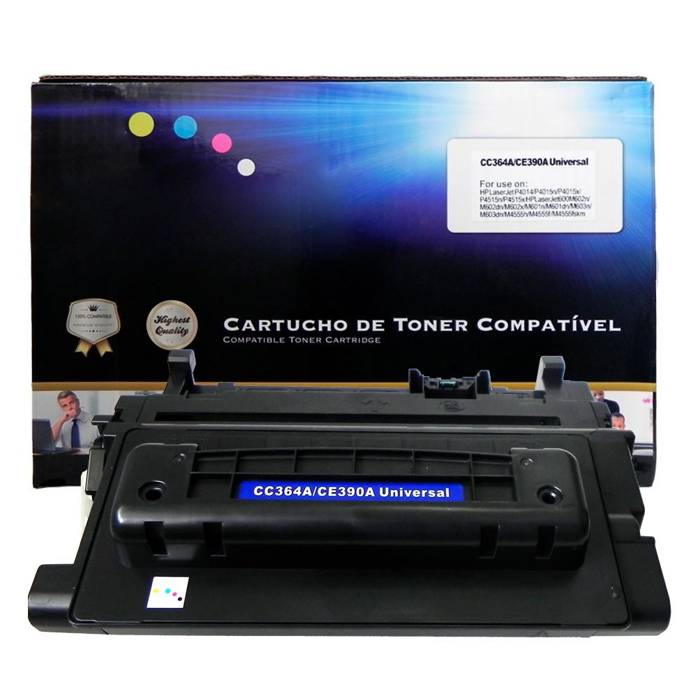 Toner Compatível 364A 390A P4014 P4015 Preto 10 mil páginas