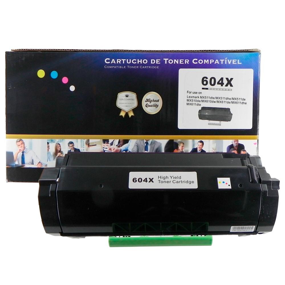 Toner Compatível 604X 60F4X00 60FBX00 MX511 MX611 Preto 20K