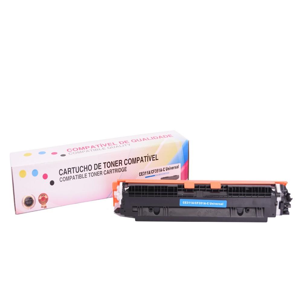 Toner Compatível CE311A CF351A P/ CP1025 CP1025N Ciano 1 mil páginas