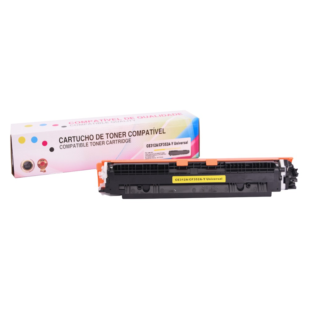 Toner Compatível CE312A CF352A P/ CP1025 CP1025N Amarelo 1 mil páginas