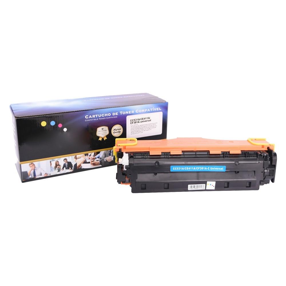 Toner Compatível CE411A CC531A CF381A CM2320 CP2020 Ciano 2,8K