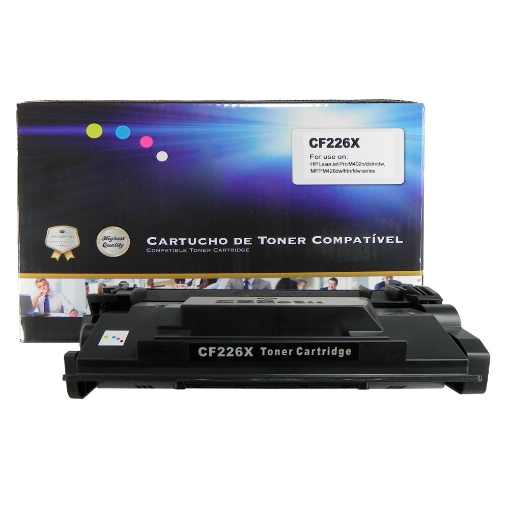 Toner Compatível CF226X M402 M426 Preto 9 mil páginas