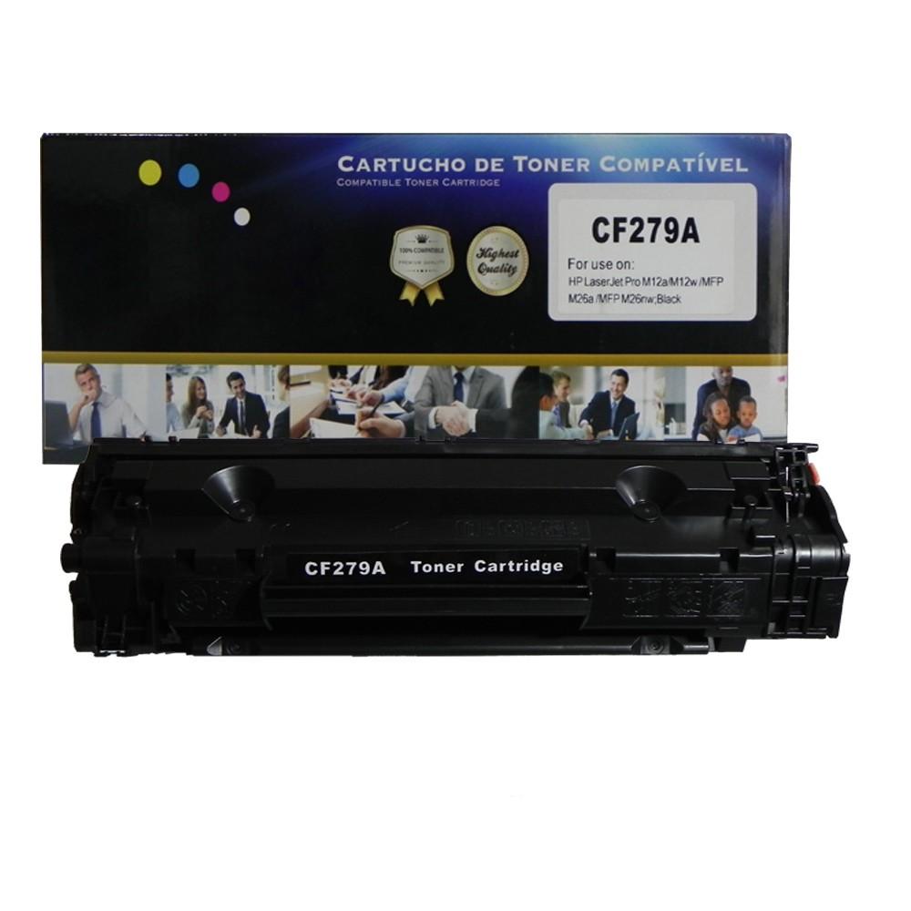 Toner CF279A Compatível PRO M12 M26 Preto 1 mil páginas
