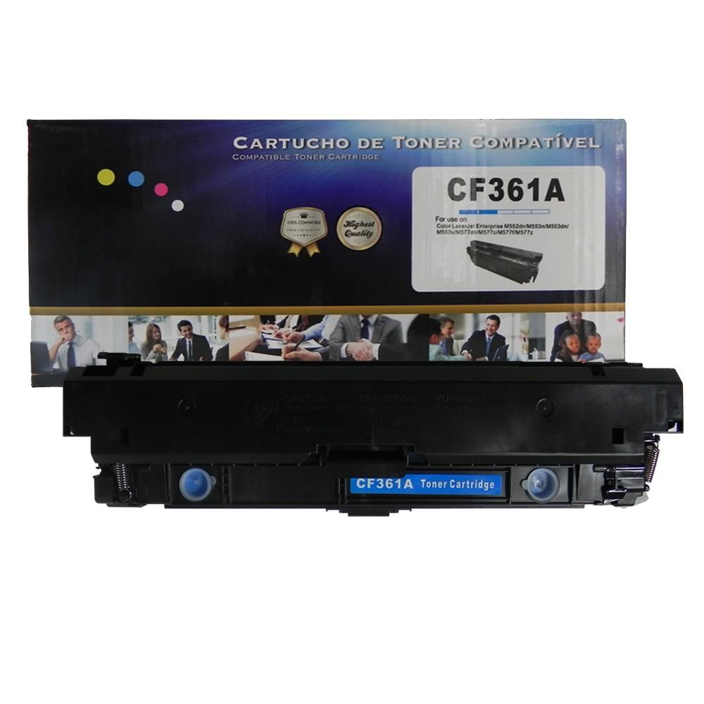 Toner Compatível CF361A 508A Ciano 5 mil páginas