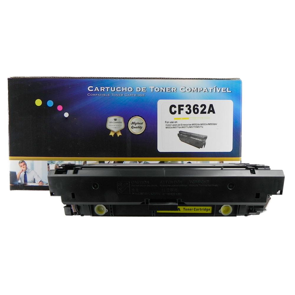 Toner Compatível CF362A 508A M577dn M553dn Amarelo 5 mil páginas