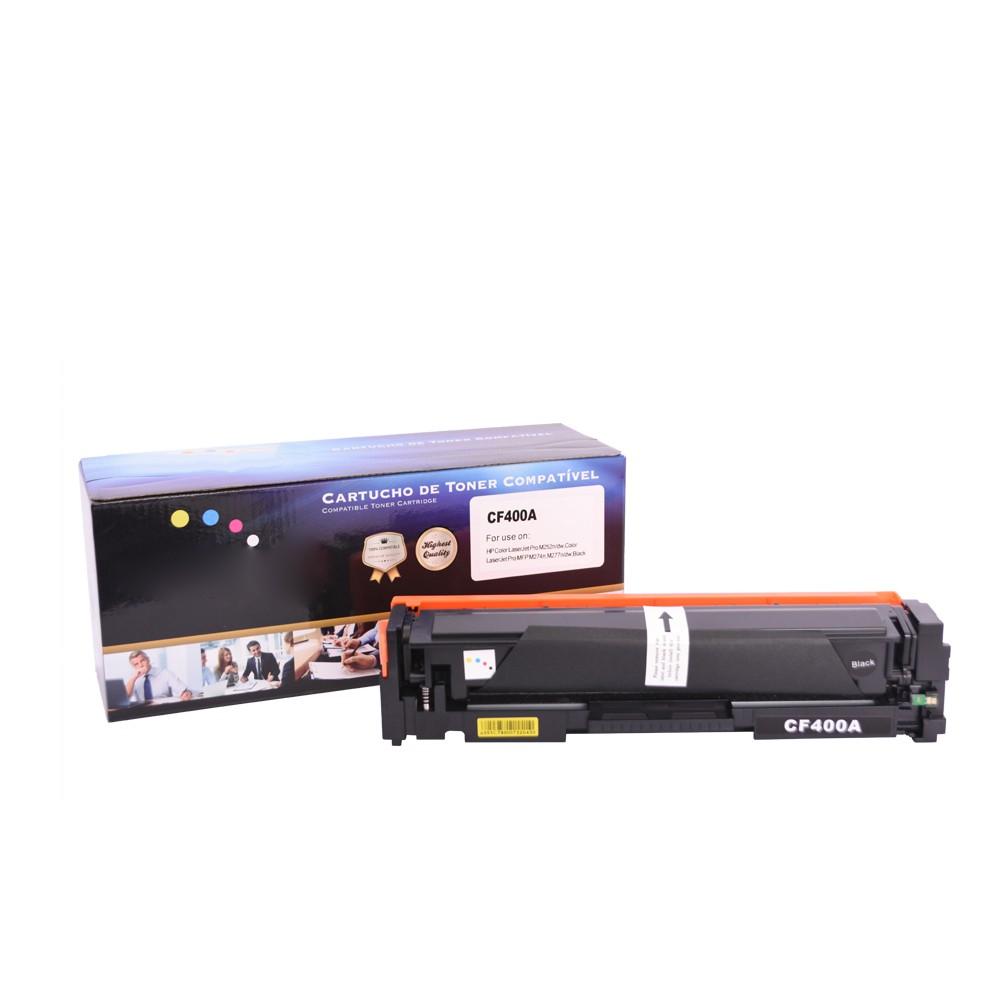 Toner CF400A Compatível Preto 1,5 mil páginas
