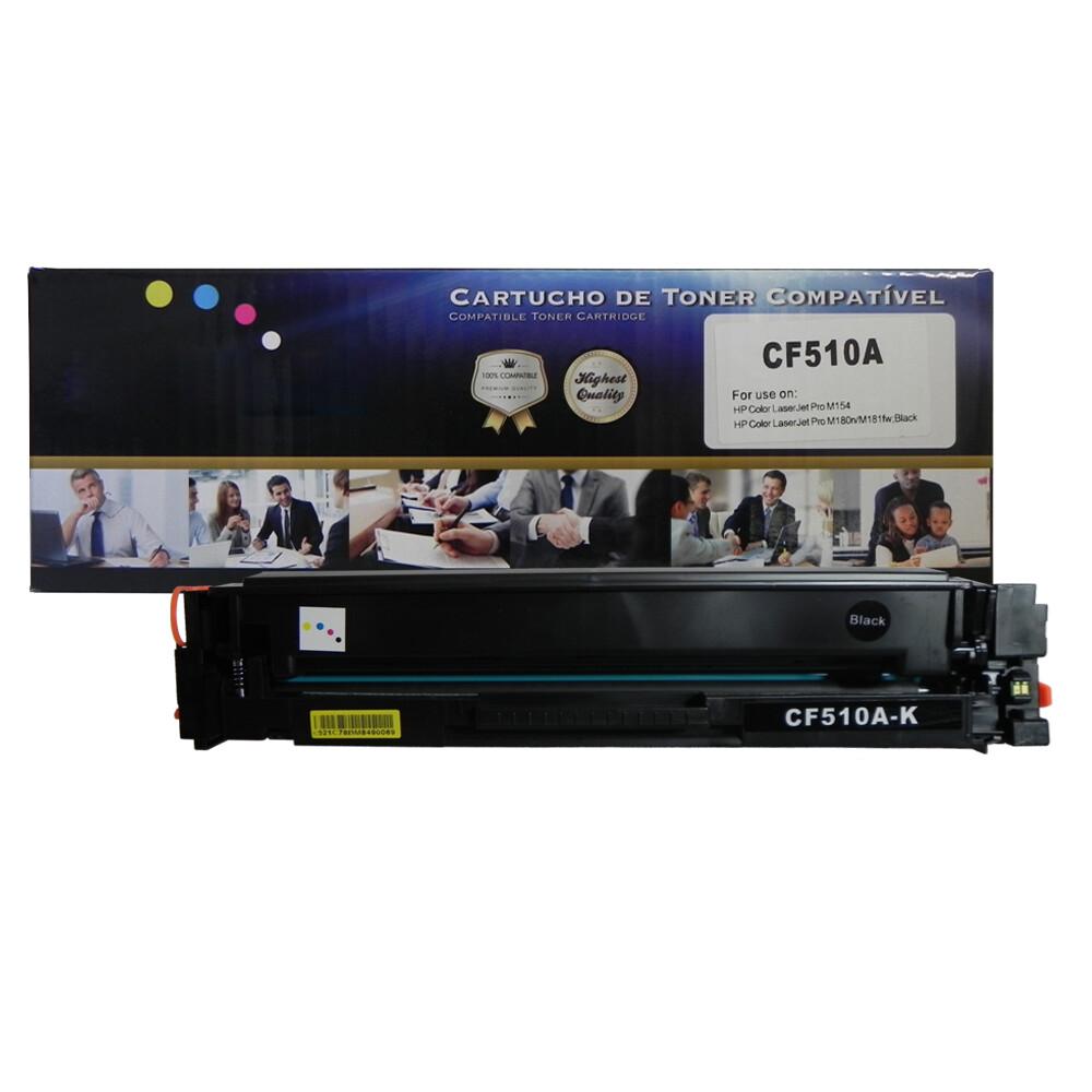 Toner Compatível CF510A M180nw Preto 1,1 mil páginas