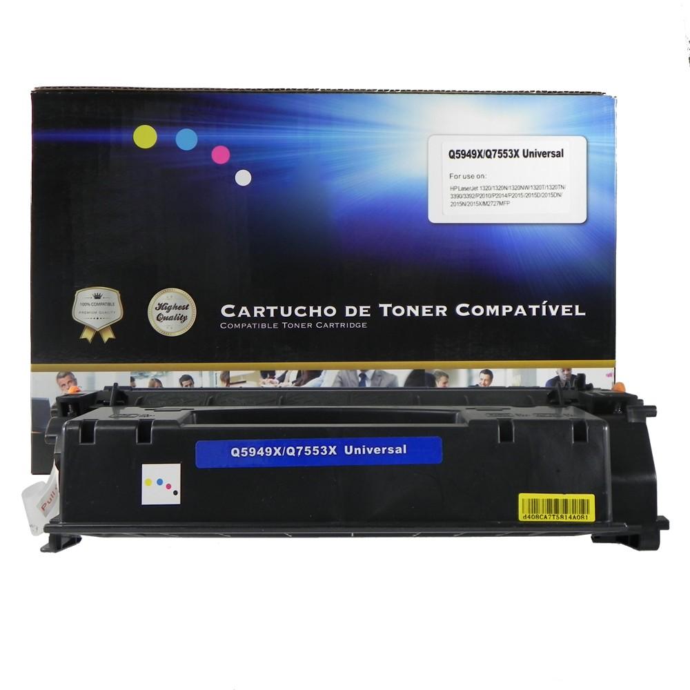 Toner Compatível 5949X 1320 3390 Preto 7 mil páginas