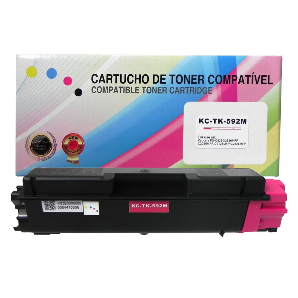 Toner Compatível TK592M Magenta C2026MFP C2126MFP 5 mil páginas