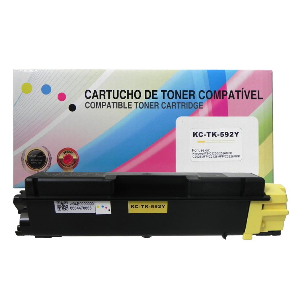 Toner Compatível TK592Y Amarelo C2026MFP C2126MFP 5 mil páginas