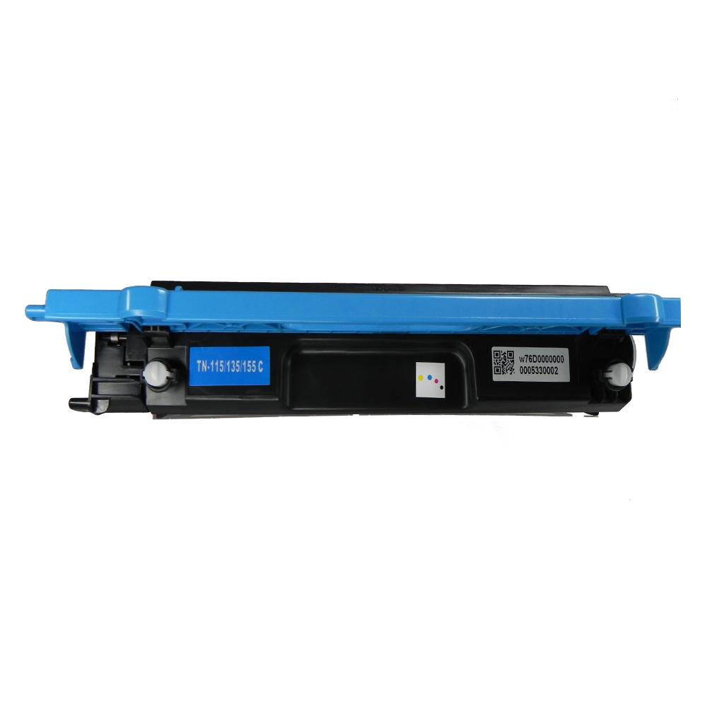 Toner Compatível TN115C TN110 Tn135 TN155 9840CDW 4070CDW Ciano 1,5 mil páginas