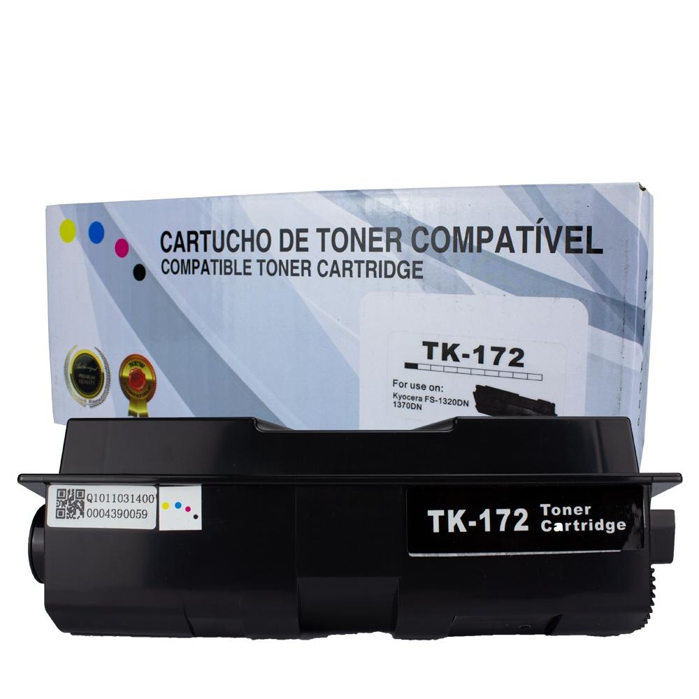 Toner TK172 Compatível Preto FS-1320 FS-1320DN FS-1370 1,2 mil páginas