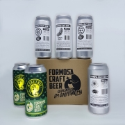 Pack 2 Meretriz IPA, 2 Replay APA , 1 Sexy Beach IPA, 1 Vergamota Double IPA, 6 Cervejas 473ml