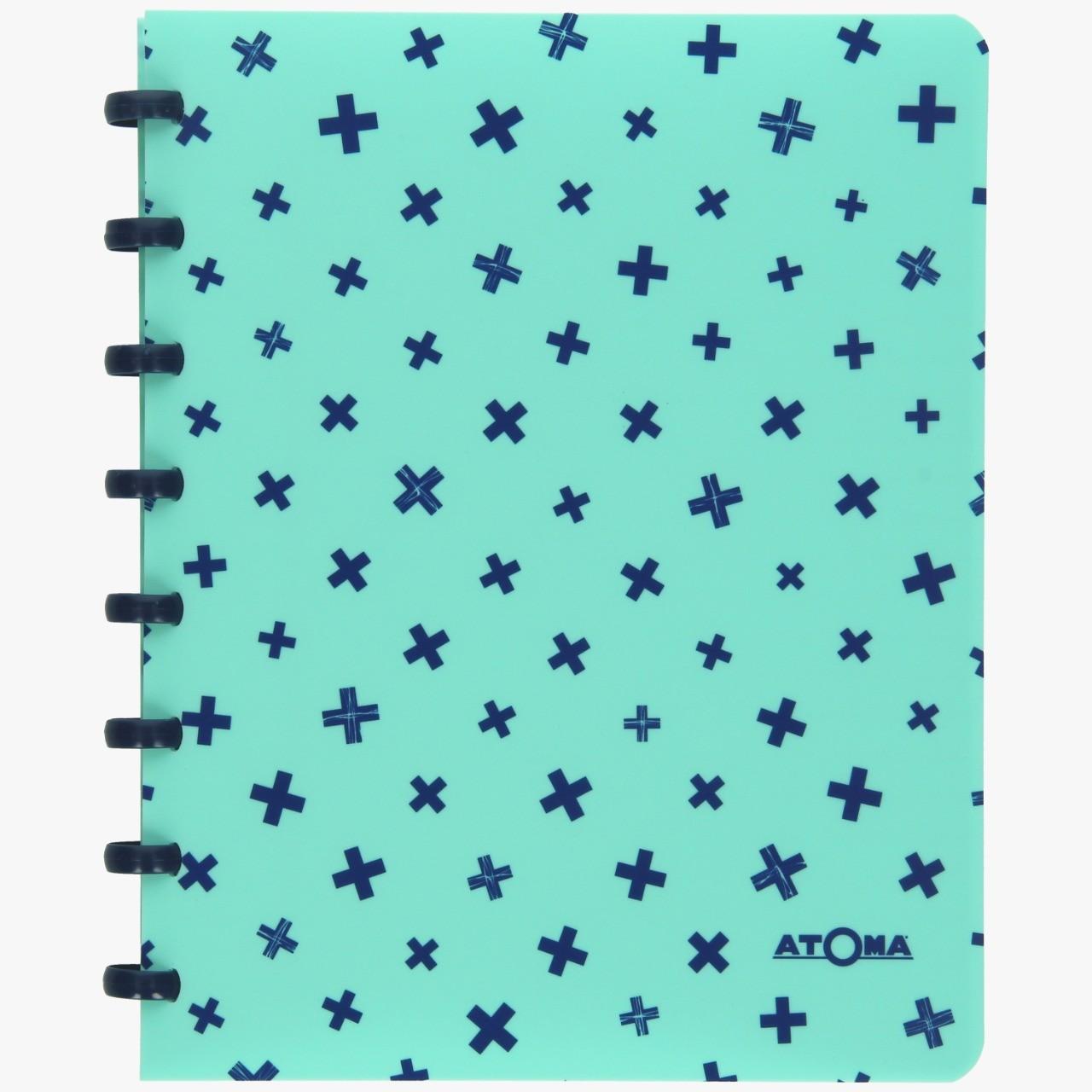 Caderno ATOMA Pastel - A5 Branco Pautado c/ 72 folhas