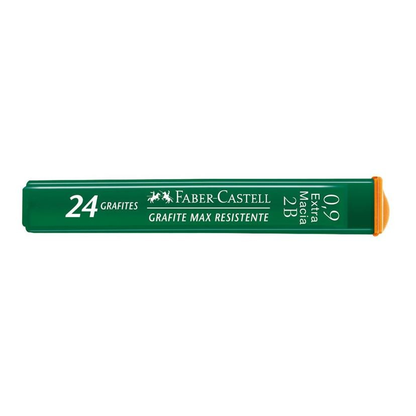 Grafite Técnico FABER-CASTELL Polymer 0.9mm 2B - tubo c/ 24 minas